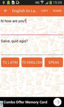 English to Latin and Latin to English Translator screenshot 1