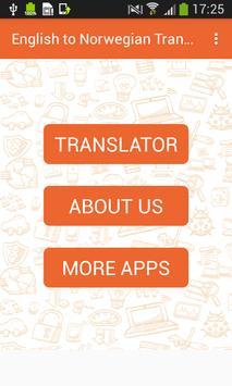English to Norwegian Translator and Vice Versa poster