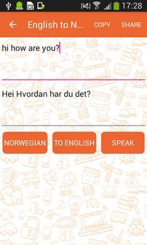 English to Norwegian Translator and Vice Versa screenshot 1