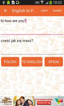 English to Polish and Polish to English Translator screenshot 1