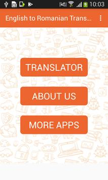 English to Romanian Translator and Vice Versa poster