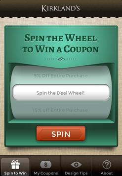 Kirkland's Spin to Win poster