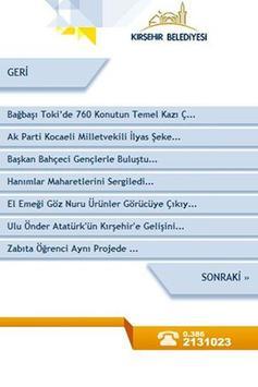 Mobil Kırşehir Belediyesi apk screenshot