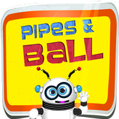 Plumber Puzzle Pipes and Ball icon