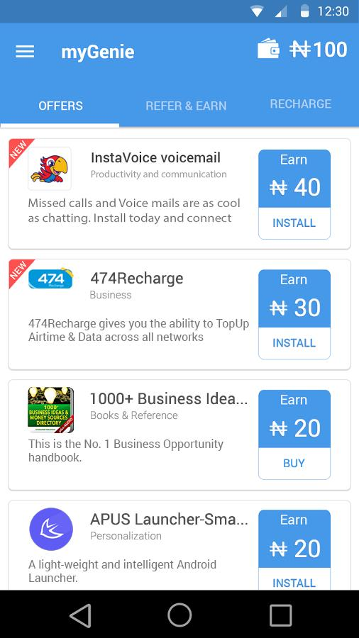 Free Airtime - myGenie for Android - APK Download