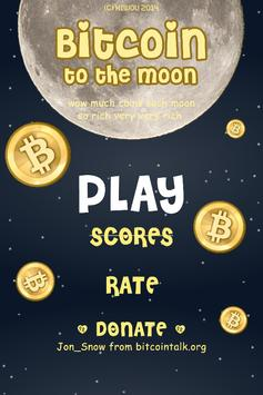 Bitcoin to the Moon poster