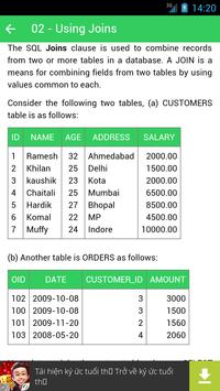 SQL Tutorial - Kiwi Learn apk screenshot