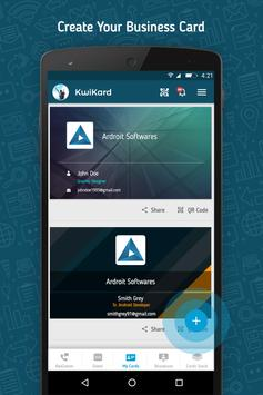 Kwikard business card maker apk download free business app for kwikard business card maker poster reheart Images