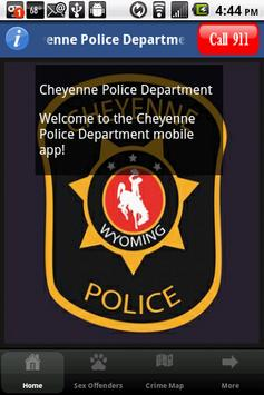 Cheyenne Police Department poster
