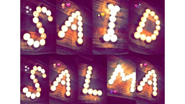 Write Your Name With Candles screenshot 2