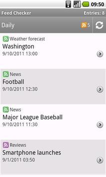 RSS reader - Feed Checker apk screenshot