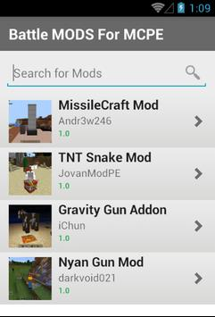 Battle MODS For MCPE screenshot 1
