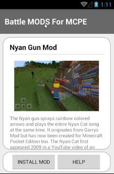 Battle MODS For MCPE screenshot 5