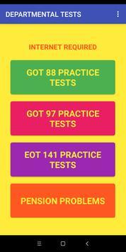 DEPARTMENTAL TESTS screenshot 1