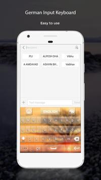 German Input Keyboard apk screenshot