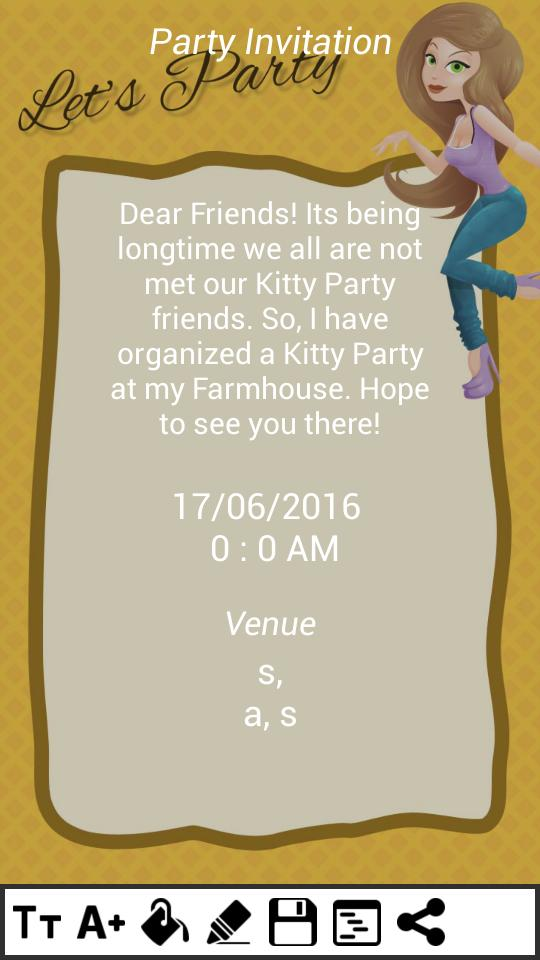 Kitty Party Invitation Cards For Android Apk Download