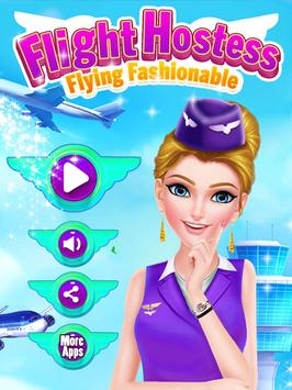 Flight Hostess - Flying Fashionable poster