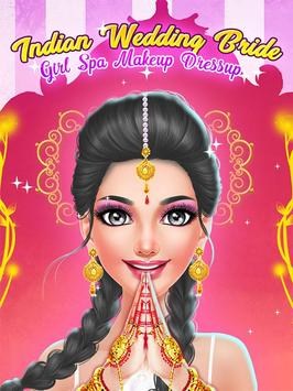 Indian Wedding & Bride Game - Spa Makeup Dressup poster