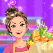 Supermarket Cashier & Shopping icon