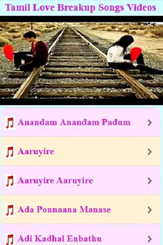 Tamil Love Breakup Songs Videos for Android - APK Download