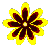 Flower and snail icon