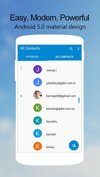 KK Contacts -Easy,Cool Contact Cartaz