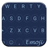 Circle Blue Emoji Keyboard icon