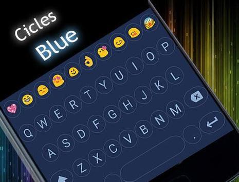 Circle Blue Emoji Keyboard apk screenshot
