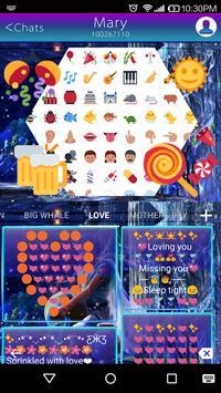 Aquarius Emoji Keyboard theme apk screenshot