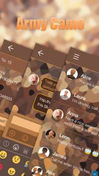 Army Camo Emoji Keyboard Theme apk screenshot