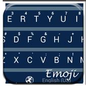 BarFlat Blue Emoji Keyboard icon