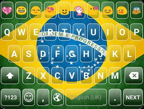 Brazil Emoji Keyboard Theme screenshot 6