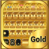 Gold Emoji Keyboard Theme icon