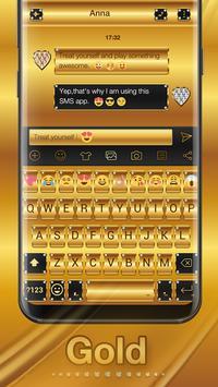 Gold Emoji Keyboard Theme poster