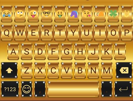 Gold Emoji Keyboard Theme apk screenshot
