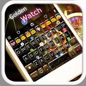 Golden Watch Emoji Keyboard icon