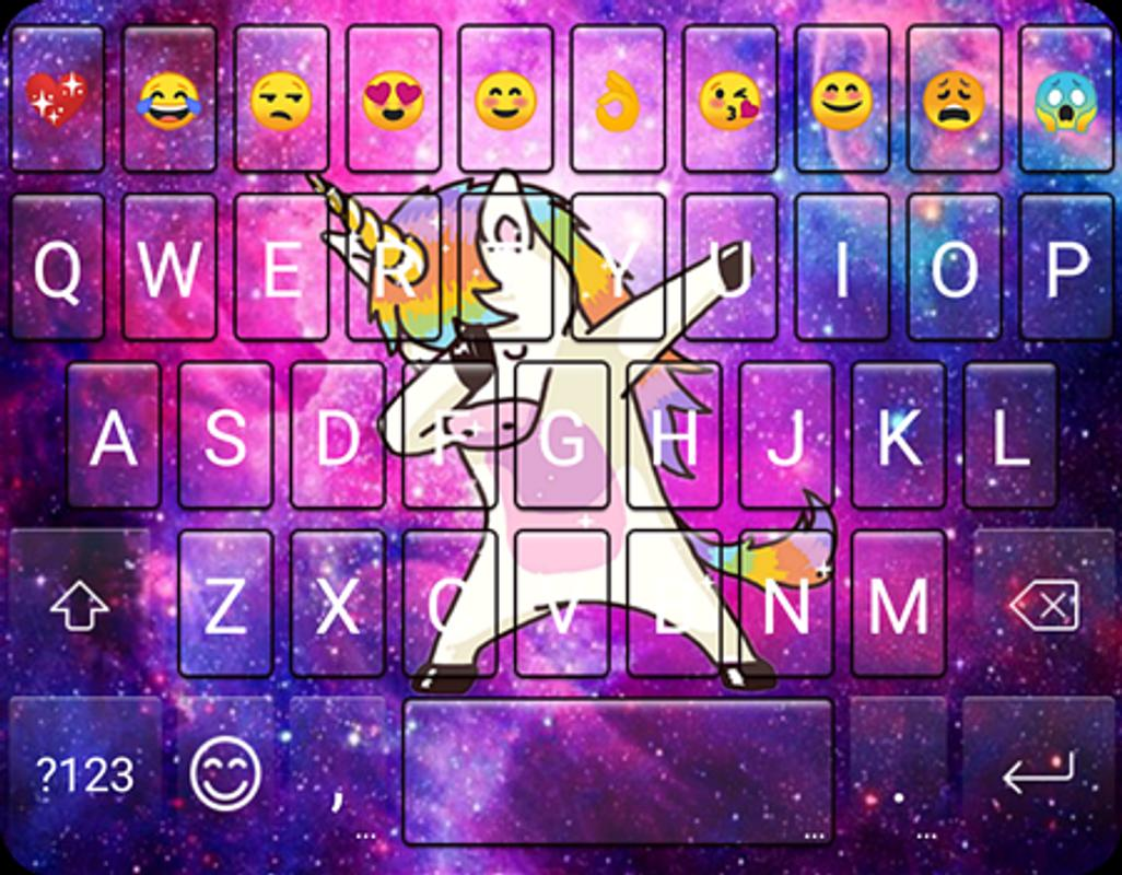 Galaxy Dab Unicorn Emoji Gif Keyboard Wallpaper Pour Android