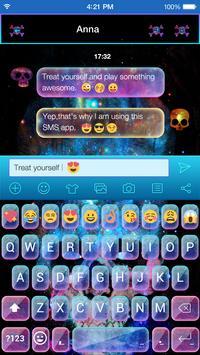 Galaxy Skull Emoji Theme apk screenshot