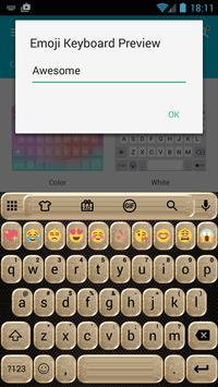 Glitter Gold Emoji Keyboard apk screenshot