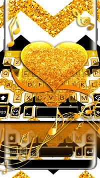 Gold Glitter Heart Keyboard Skin screenshot 3