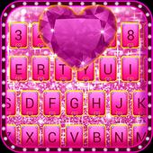 Pink Bow Glitter Keyboard Theme icon