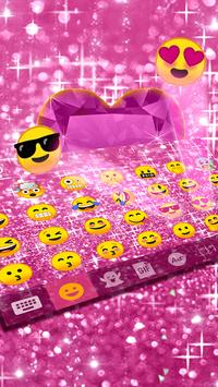 Pink Bow Glitter Keyboard Theme apk screenshot