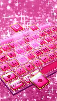 Pink Bow Glitter Keyboard Theme screenshot 3
