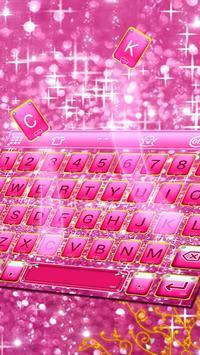 Pink Bow Glitter Keyboard Theme screenshot 6