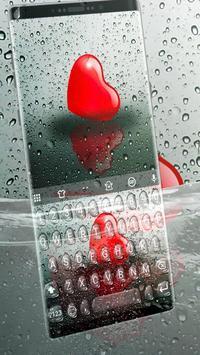 Droplet Heart Keyboard Theme apk screenshot