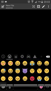 Dusk BlackBlue Emoji Keyboard screenshot 3