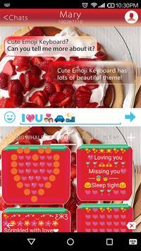 Epicurious Emoji Keyboard Skin apk screenshot
