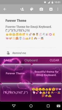 Forever Emoji Keyboard Theme screenshot 5