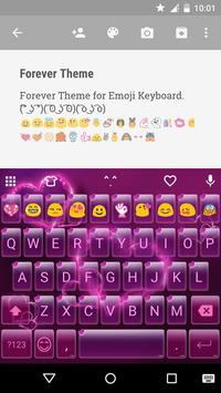 Forever Emoji Keyboard Theme poster