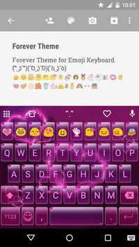 Forever Emoji Keyboard Theme screenshot 1